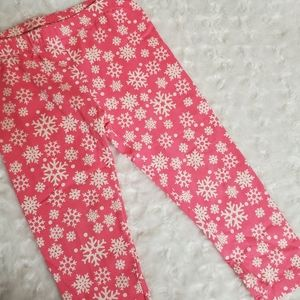 Pretty in pink leggings with ❄